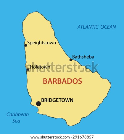 Barbados - vector map