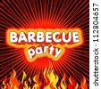 Barbecue background. - stock vector
