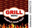 Barbecue grill menu card design. - stock vector