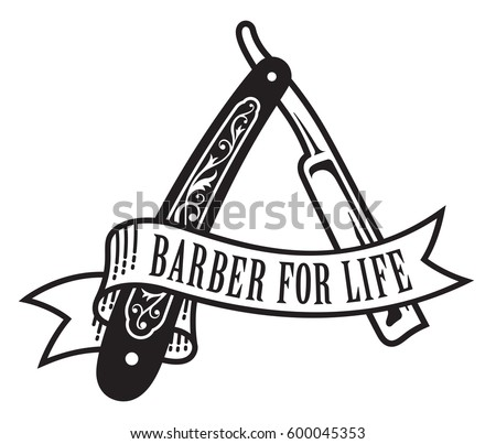 barber life design vector illustration vintage straight