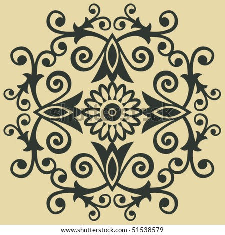 baroque floral decoration, vector design elements