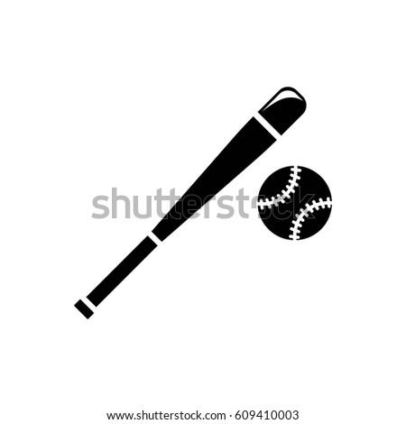 vector baseball bats ball icon stock vector 364899359 shutterstock. Black Bedroom Furniture Sets. Home Design Ideas