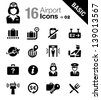 Basic - Airport and Travel icons - stock vector