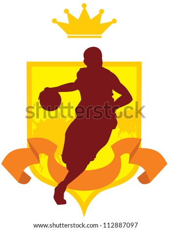 Basketball enblem vector