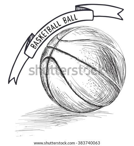 drawings of basketball