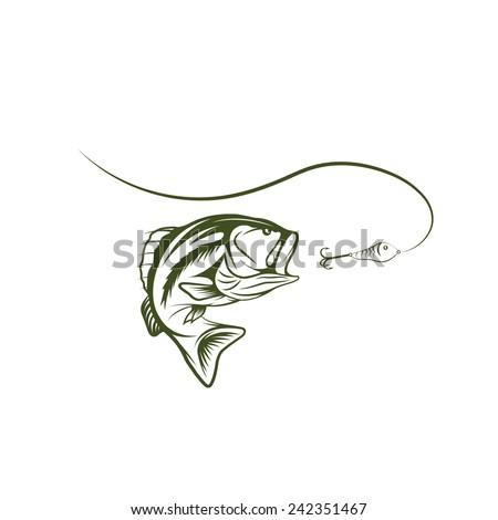 largemouth bass template - photo #20