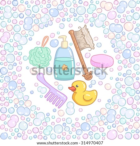soap bubbles cute frame stock vector 285633674 shutterstock. Black Bedroom Furniture Sets. Home Design Ideas