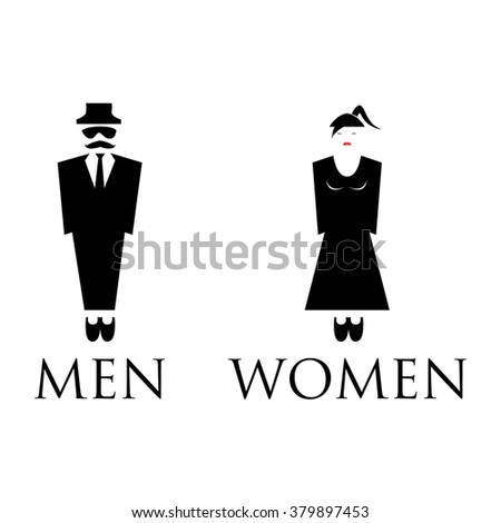Bathroom Sign Man And Woman man lady toilet sign stock vector 407140957 - shutterstock