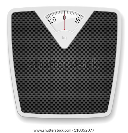 Bathroom Weight Scale. Illustration on white background