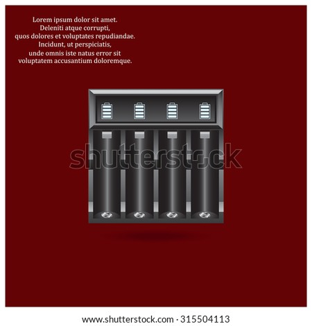 Battery Charger. icon. vector design