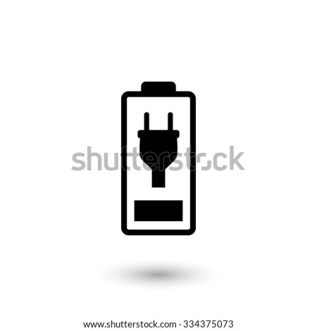 Battery is charging -  vector icon