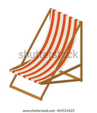 beach chair isolated icon design, vector illustration  graphic