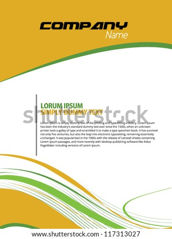 cover page design sles beautiful abstract flyer design cover page stock vector