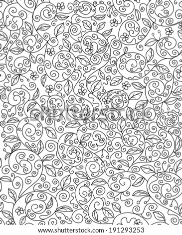 Seamless paisley background hand drawn vector stock vector for Can you dye roses