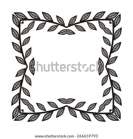 Beautiful black pattern frame vector illustration