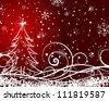 Beautiful Christmas (New Year) card. Vector illustration. - stock photo