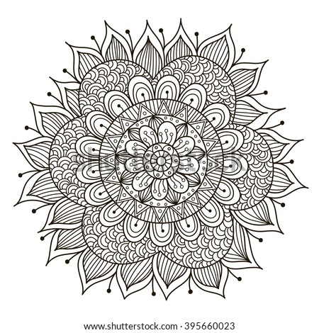 Abstract Ornament Mandala Background Design Adult Stock