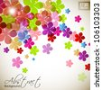 Beautiful floral background with space for your message. EPS 10. - stock photo