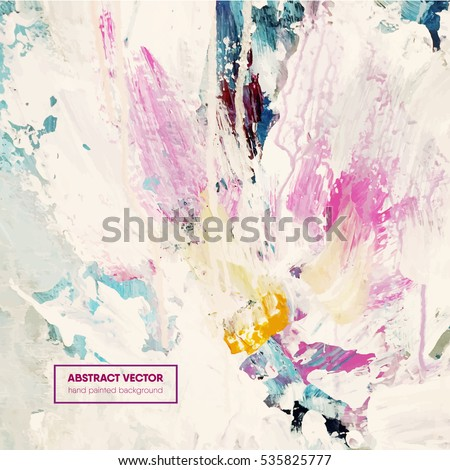 Beautiful hand painted abstract background,floral, vector