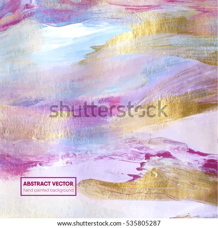 Beautiful hand painted abstract background,vector, card design