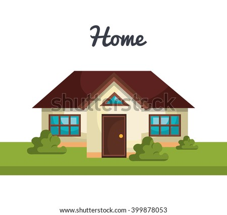 Vector Flat Icon Suburban American House Stock Vector 523947364 ...