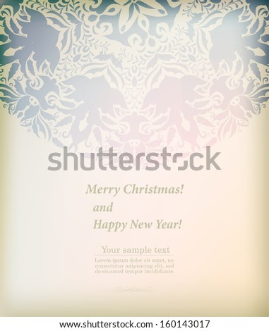 Beautiful ornament for merry Christmas card vector eps 10