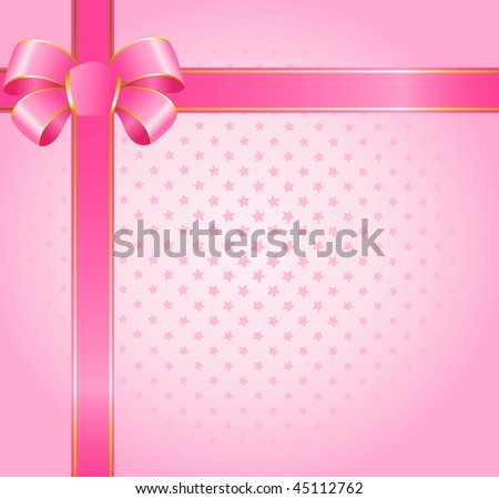 beautiful pink background with a big color bow
