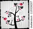Beautiful valentine card - stock vector