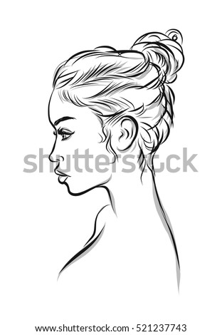 romantic woman silhouette set in gallery stock vector 55194676 shutterstock. Black Bedroom Furniture Sets. Home Design Ideas