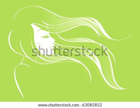 beautiful woman angel light dress halo stock vector