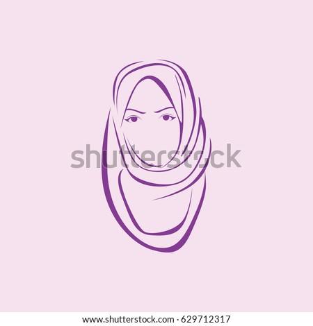 Beauty Hijab Logo Stock Vector 629712299 Shutterstock