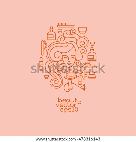Thank you lettering greeting card modern stock vector for Abstract beauty salon