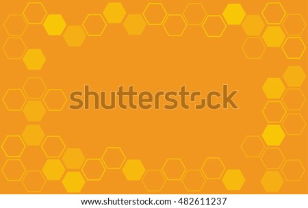 bee hive hexagon and space background