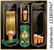 Beer design templates - stock vector