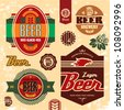 Beer labels, badges and icons set. - stock vector