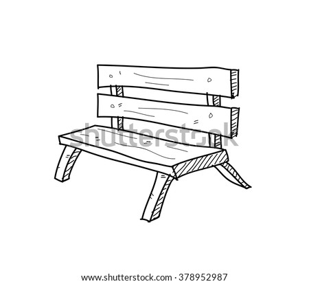how to draw a bench from the side