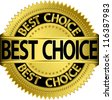 Best choice golden label, vector illustration - stock photo