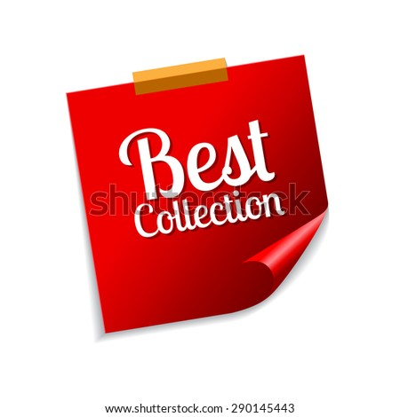 Best Collection Red Sticky Notes Vector Icon Design
