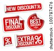 Best discount sale stickers set. - stock vector