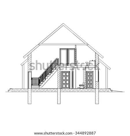 164476878 likewise Dibujo t C3 A9cnico in addition Seamless Border Contour Country Houses Vector 494172511 besides Plan For 25 Feet By 30 Feet Plot  Plot Size 83 Square Yards  Plan Code 1624 together with Construction Details. on architectural drawings house front