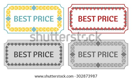 vintage label template number text stock vector 169330211 shutterstock. Black Bedroom Furniture Sets. Home Design Ideas