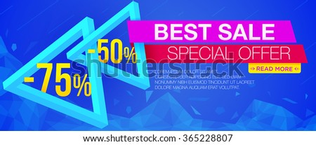 Modern style options banner web design stock vector for Best discount designer websites
