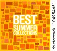 Best summer collections design template with shopping bags pattern. - stock vector