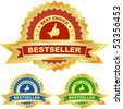 Bestseller emblem set. - stock vector