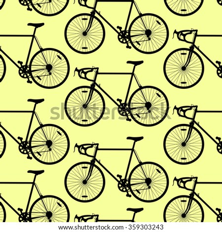 Vector Seamless Pattern Bikes Stock Vector 171110747 ...