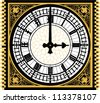 Big ben clock in very high detail - vector - layered and grouped for easy editing - stock vector