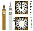 Big Ben in Vector Art - stock