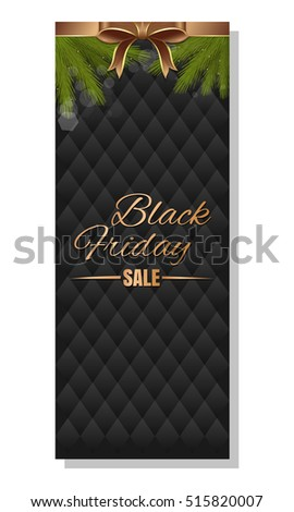 Big Christmas Sale. Black Friday background. Gold lettering on a black background. Vector illustration