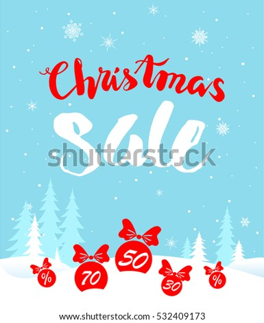 Big Christmas sale. Seasonal sale background for banners, advertising, leaflet, cards, invitation and so on.