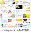Big collection cards - stock vector